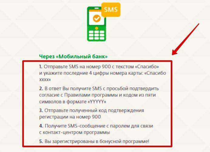 Подключение к программе через мобильный банк