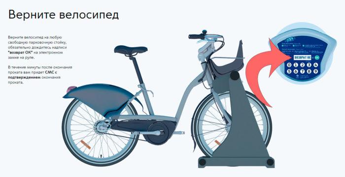 Возврат велосипеда в точку проката